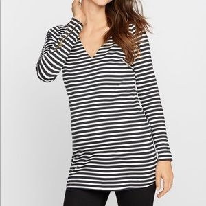 Like New Striped Maternity Tunic